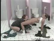 Lesbians Bathroom Bonding with Violet Blue - Cat Fight Gang Bang