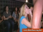 Bachelorettes next door sucking naked guys at cfnm party