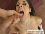 Sexy Latin Paige Taylor Swallows A Load Of Creamy Cum