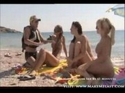 He Fucks Three Hot Girls At The Beach