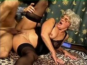 German Granny Fucking a Younger Guy