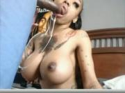 Big Titty Girl Sucking Black Dick