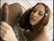 Gwen Summers petite lady takes Lexington Steele huge black cock in her pussy