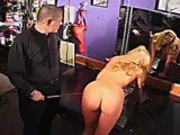 Sexy blonde slut loves getting punished by this very sadistic guy