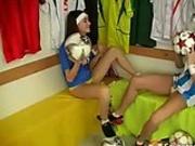 Sporty lesbian sex