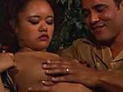 Asian slut gets finger fucked and asshole stretched by horny male