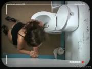 Blow job on the toilet