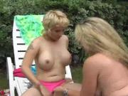Wild MILF has oral sexy party outside with horn...