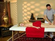 Horny masseur gives massage to cute blonde hottie Trillium