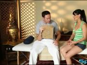 Hung masseur turns on a stunning brunette Charley Chase