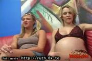 Preggo interracial sex