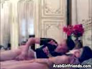 Sexy Arab Girlfriend Lying On Back And Getting Pussy Fingered