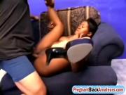 Prego ebony wife endures white inches in hardcore porn scenes