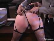 Mistress likes to give hard spankings to her pr...