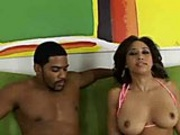Wild black babe with piercing gets asshole fucked and filled with cream