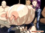 Bondage hentai shemale maid with monster boobs and cock hard fucked