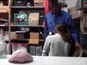 Teenie shoplifter fucking with security for her release