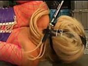 Blonde bound in chains