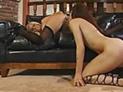 Two babes fuck with toys