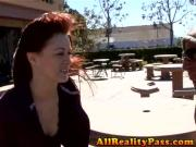 Slutty Wife Sucks Strangers Cock