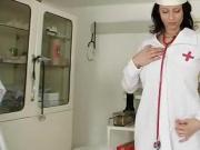 Curvy Mature Chick Sabrina In her Nurse Uniform Big Boobs Show Off