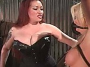 Horny dominatrix loves using a cat o nine tails on her sex slave