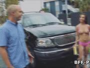 Busty carwash babes fucking clients cock