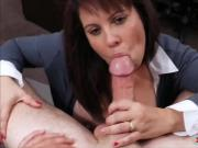 Brunette MILF pounded to bail out her husband from jail