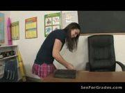 Slutty Student Fucking Both Teachers