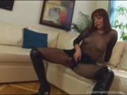 Hot Redhead Slut Crams Erect Cock In Mouth Pussy