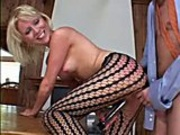 Blonde whore rides cock