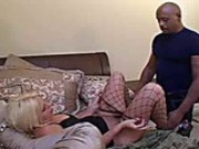 Filthy slut enjoys getting her fuckholes reamed by big black cock