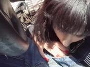 Beautiful stranded teen babe hitchhikes and boned in the car