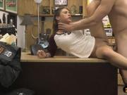 Cute amateur gets her pussy deeply fucked by pawn man