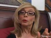 Mature broad loves showing this dude how blowjo...