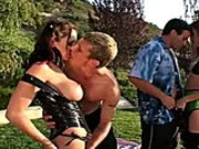 Real steaming hot foursome scene gets very wet and wild fast
