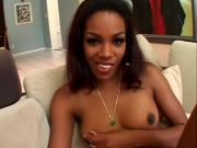 Ravishing Ebony Chick Stuffs Hung Unit In Mouth And Muff