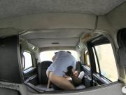 Huge boobs passenger asshole rammed hard by the driver