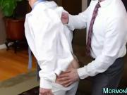 Young straight mormon stripped by older gay man