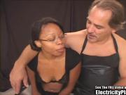 Hottie Black Chick Electrified and Gagged