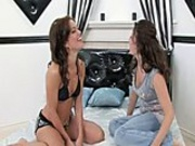 Mandy lures Karmella into hot lesbian sex
