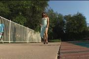 Fearless Brunette Girl Receives Non-Stop Pussy Slamming