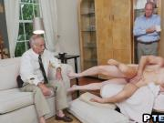 Blonde Babe Molly Mae Banged By A Horny Old Perv
