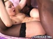 Racy Blonde Chick Annett Schwartz Bangs Huge Black Stud