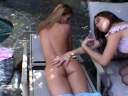 2 Hot Lezzy Lovers Nail One Another With Dildo