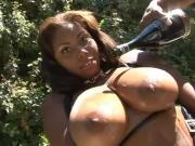 Ebony Chick Shoved With Black Penis