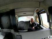Pretty amateur blonde passenger nailed in the backseat