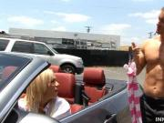 Adventurous Blonde Whore Car Arrest