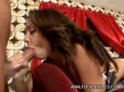 Sexy Brunette Vixen Gets Her Mouth And Bumhole Fucked