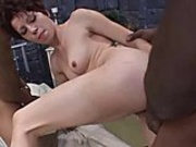Two hung black men pound this brunette